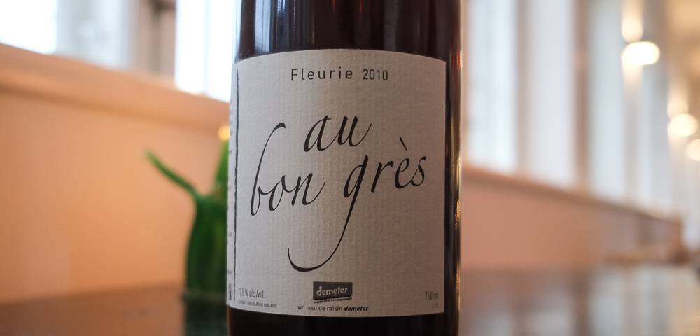 Fleurie fra Michel Guignier, Au Bon Gres fra 2010 på Molskroen