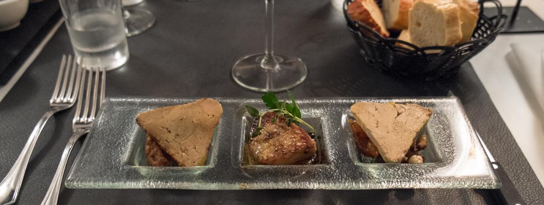 Foie gras servering på Restaurant Lajmi i Jægergårdsgade