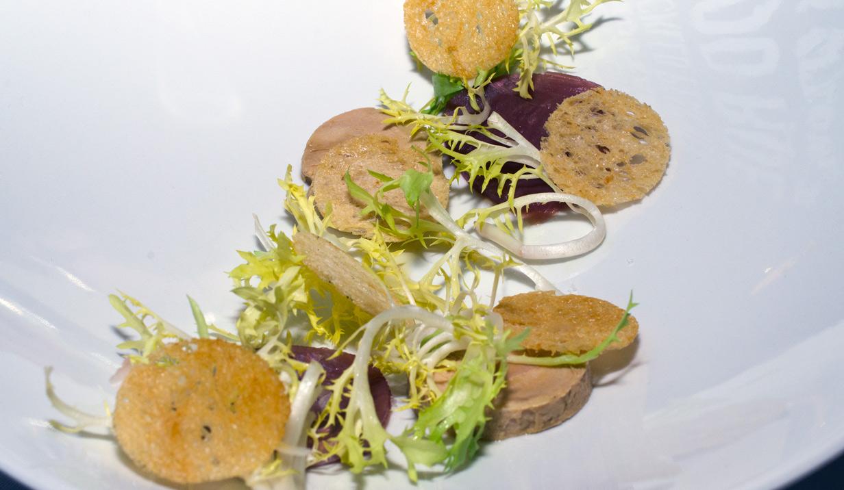 Foie gras, tun og citron på Nordisk Spisehus
