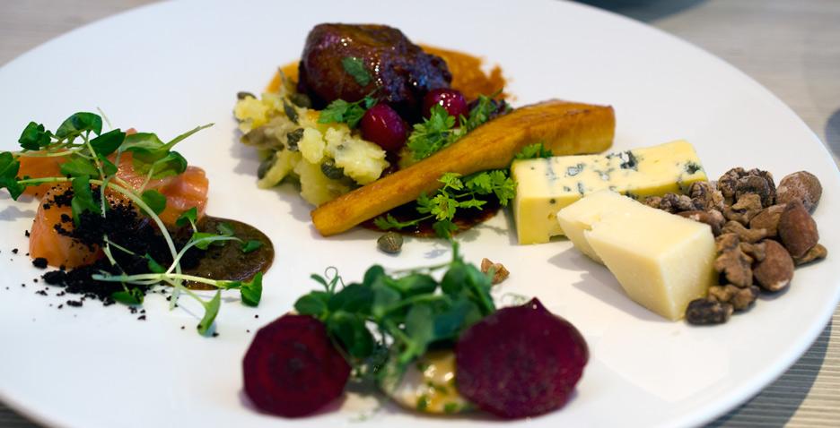 Frokosttallerken på Art Restaurant i Aarhus