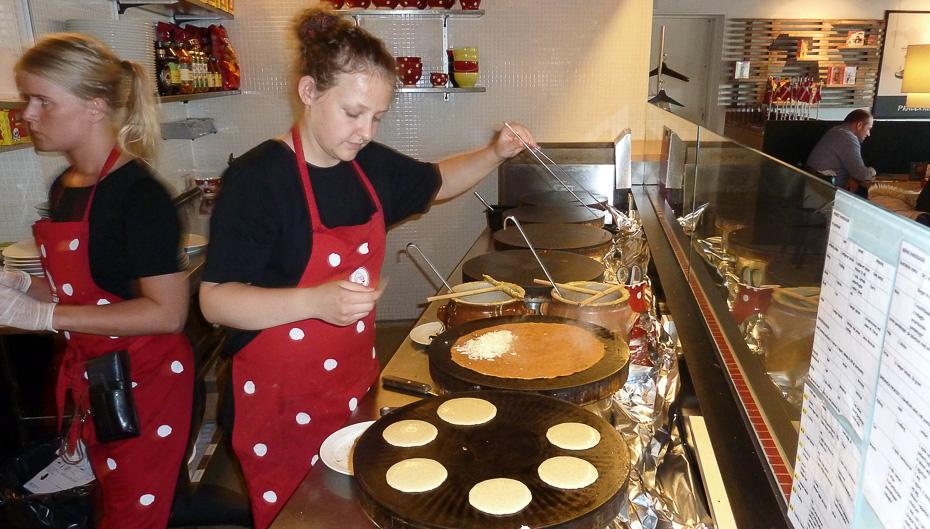 Gang i pandekagerne på Rasmus Klump restauranten i Aarhus