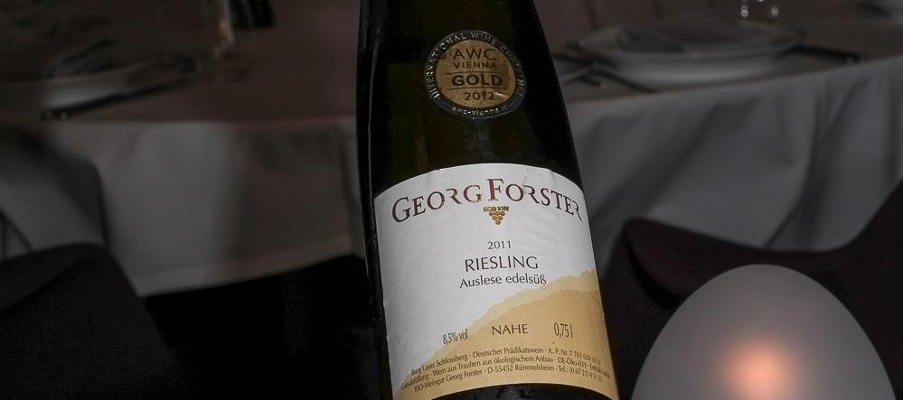 Georg Forster, tysk Riesling Auslese, sent høstet af modne druer fra Nahe - Tree Top i Vejle