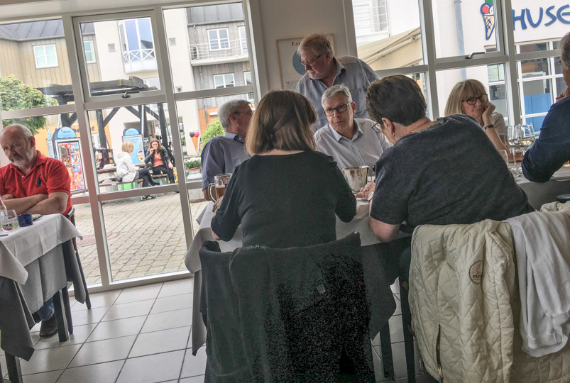 Godt med gæster på Restaurant Seafood