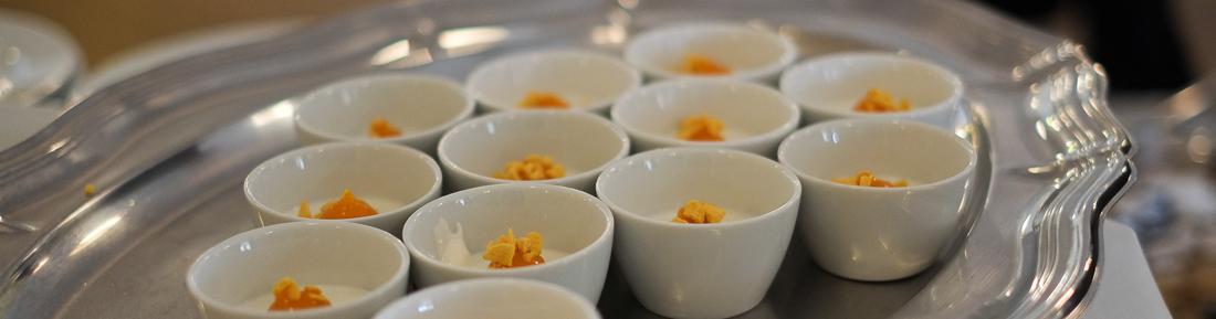 Græsk yoghurt med bærcoulis på Varna Palæet i Marselisborgskoven