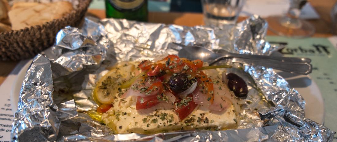Grillet fetaost hos Restaurant Zorba i Frederiks Allé