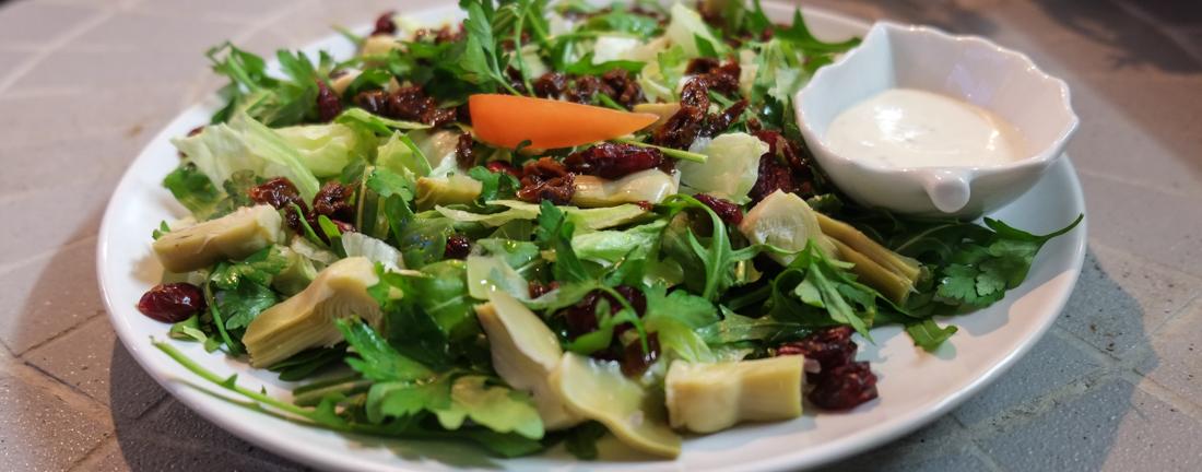 Grøn salat på N'ViJa på Frederiks Allé