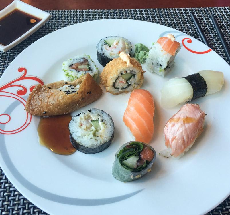 Her kan du spise alt det sushi du vil - Restaurant Vinde i Hasle