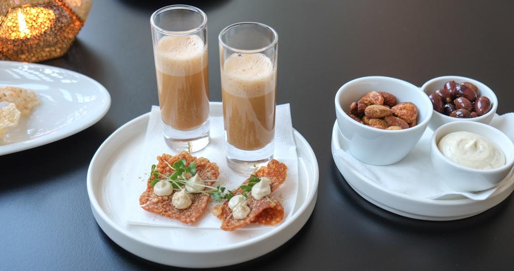 Hummersuppe som snack på Restaurant Varna
