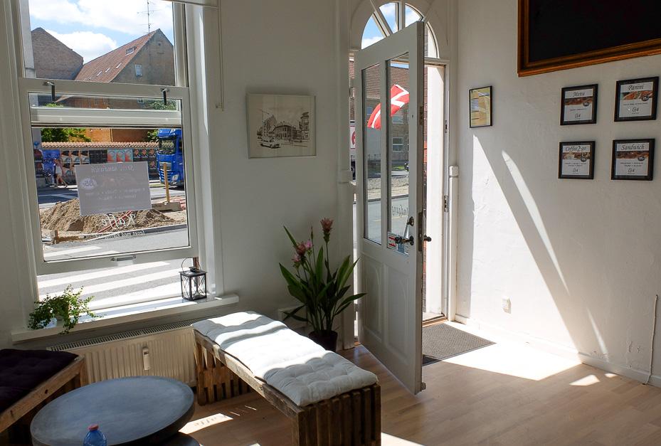 Hyggelig indretning på Café 8 i Aarhus