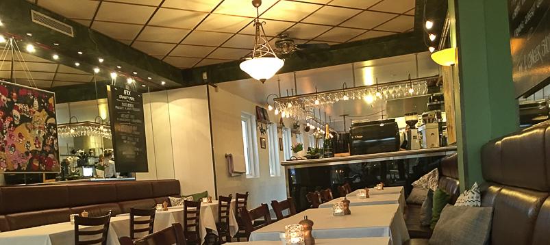 Hyggelig indretning på Grønne's Gastronomi