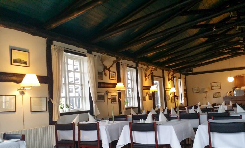 Hyggelig indretning på Kalø Slotskro