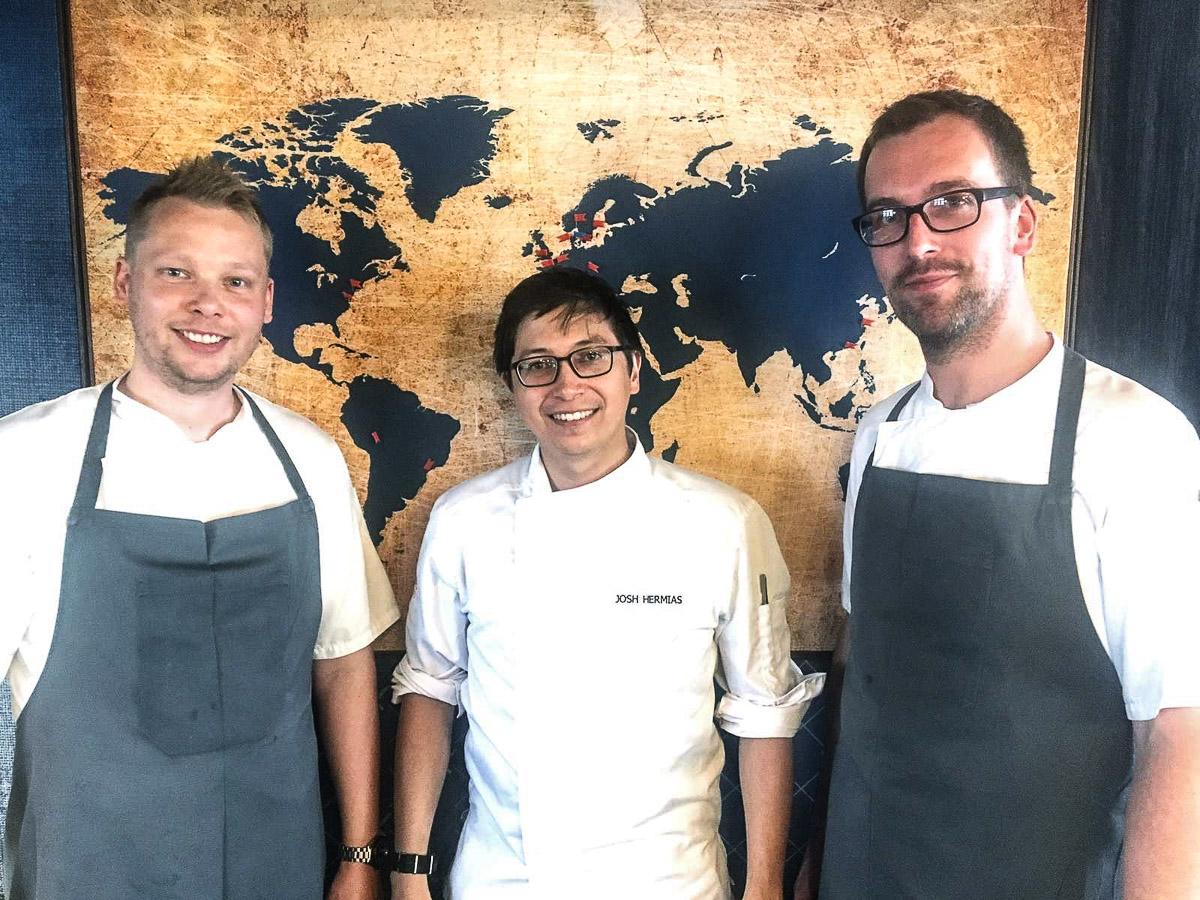 Fra venstre: Kasper pelle Christensen, Joshua Hermias og Jacob F