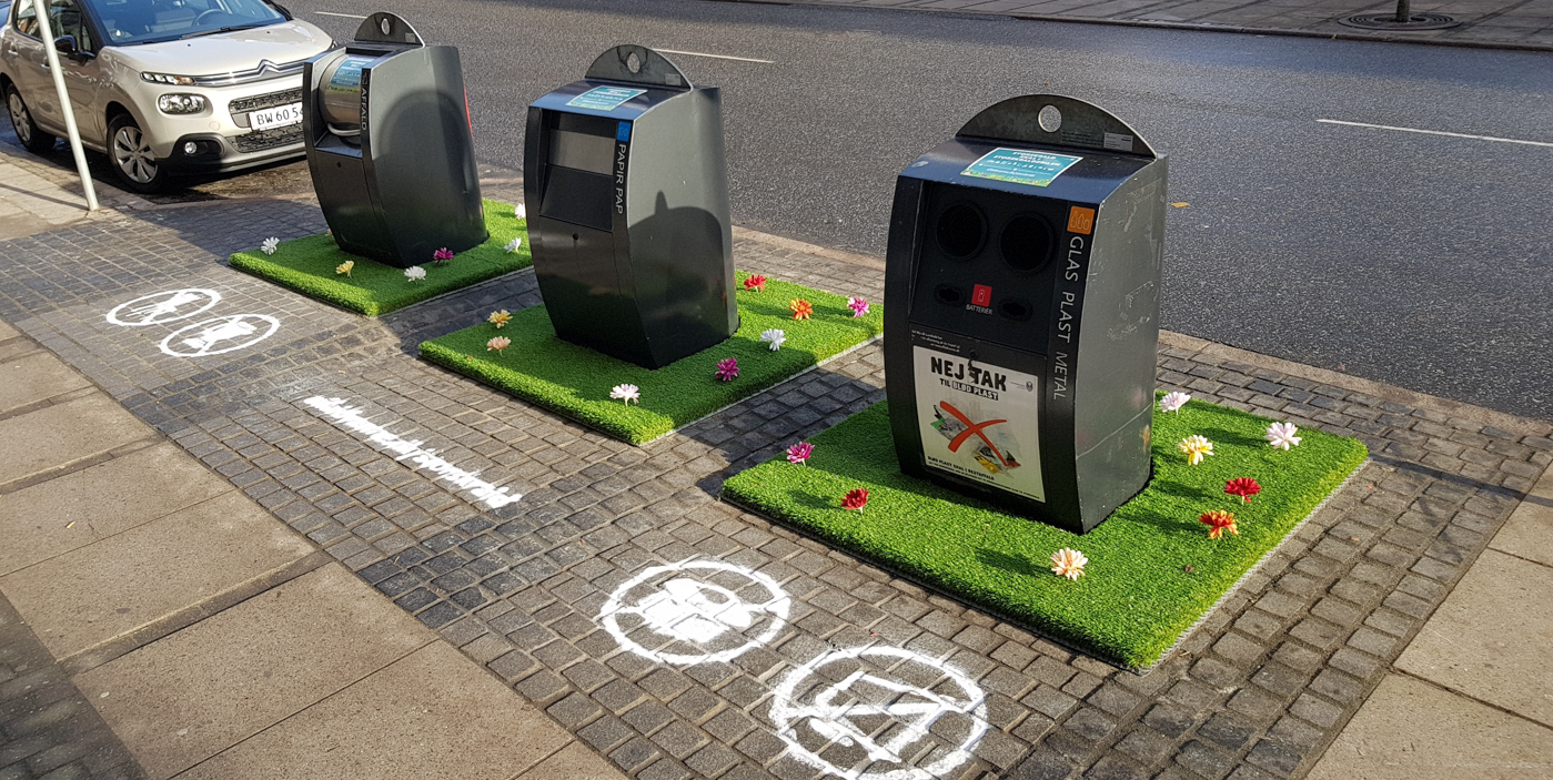 En rigtig god idé: Blomsterhave giver mindre affald på gaden
