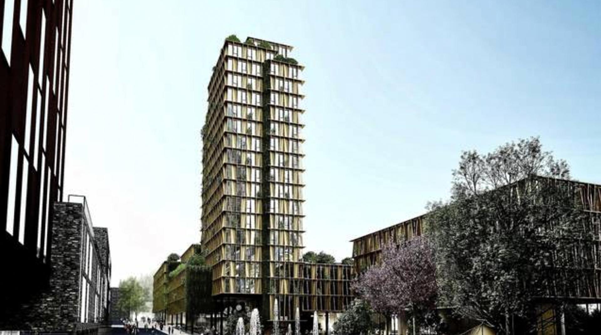 Højhus på 17 etager skyder op i Aarhus med boliger til 600 studerende