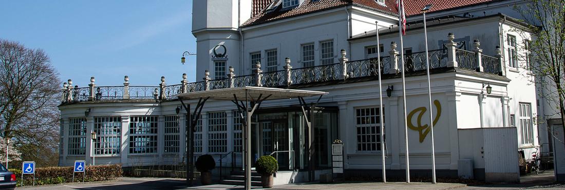 Indgangen til Varna Palæet i Marselisborgskoven