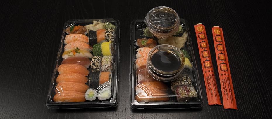 Indpakning - takeaway fra Ginza Sushi i Aarhus