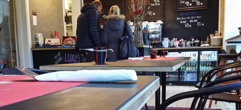 Indretning på Broges Kafe