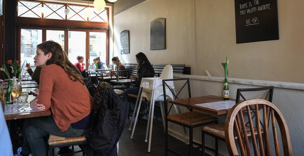 Indretning på Café Underground i Aarhus