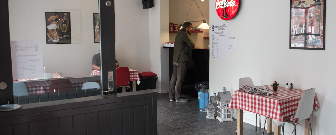 Indretningen på Munkholts Cafeteria