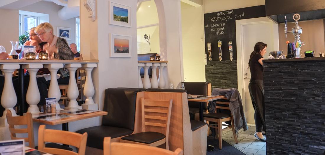 Indretningen på Restaurant Zorba i Frederiks Allé