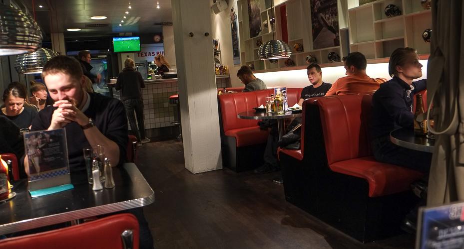 Indretningen på Sharks Diner i Aarhus