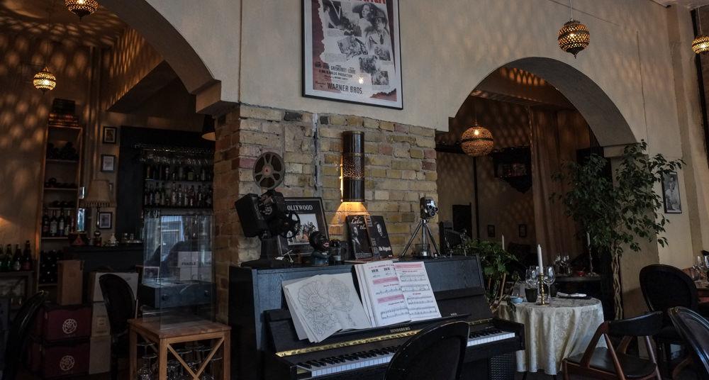 Klaveret på Restaurant Ricks i Aarhus