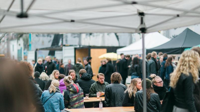Kødbyens Madmarked ved Kulbroen i Aarhus