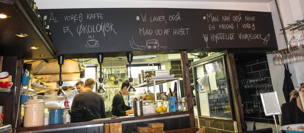 Køkkenet på Restaurant Komfur