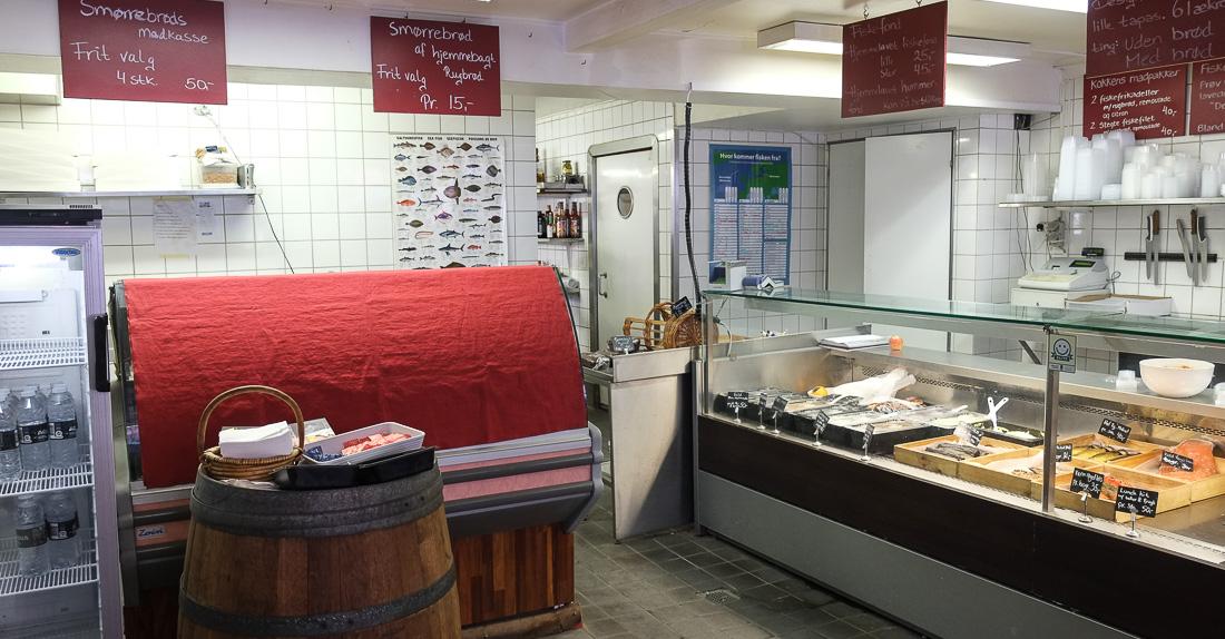 Kokkens Fisk og Delikatesser i Guldsmedgade - smørrebrød