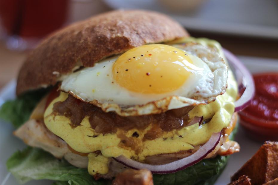 Kokkens kyllingeburger på Burger Joint