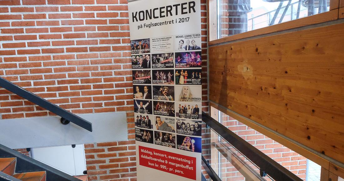 Hvad får 550 gæster til at drage til koncert og middag på Fuglsøcentret?