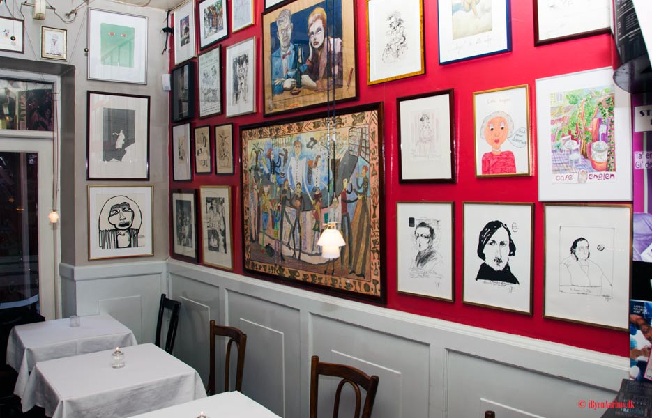 Café Englen - litteraturens og de kulturradikales stamcafe.