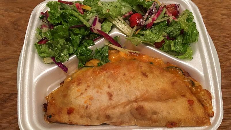 Kyllinge-Quesadilla fra Café Kaffegal
