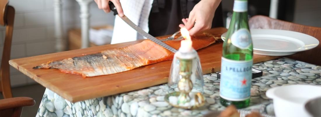 Laksen på Klasisk Fisk i Nørregade