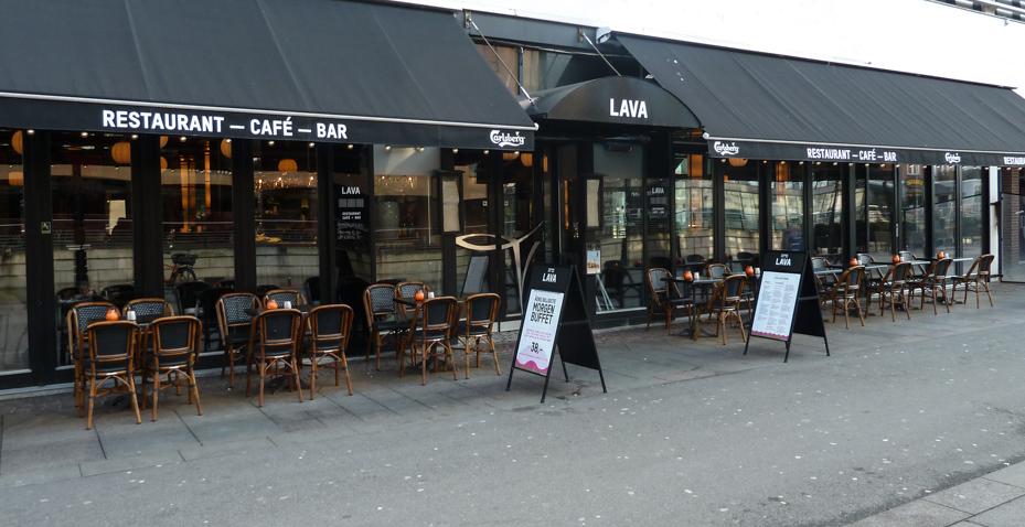 Lava i Aarhus en januar morgen