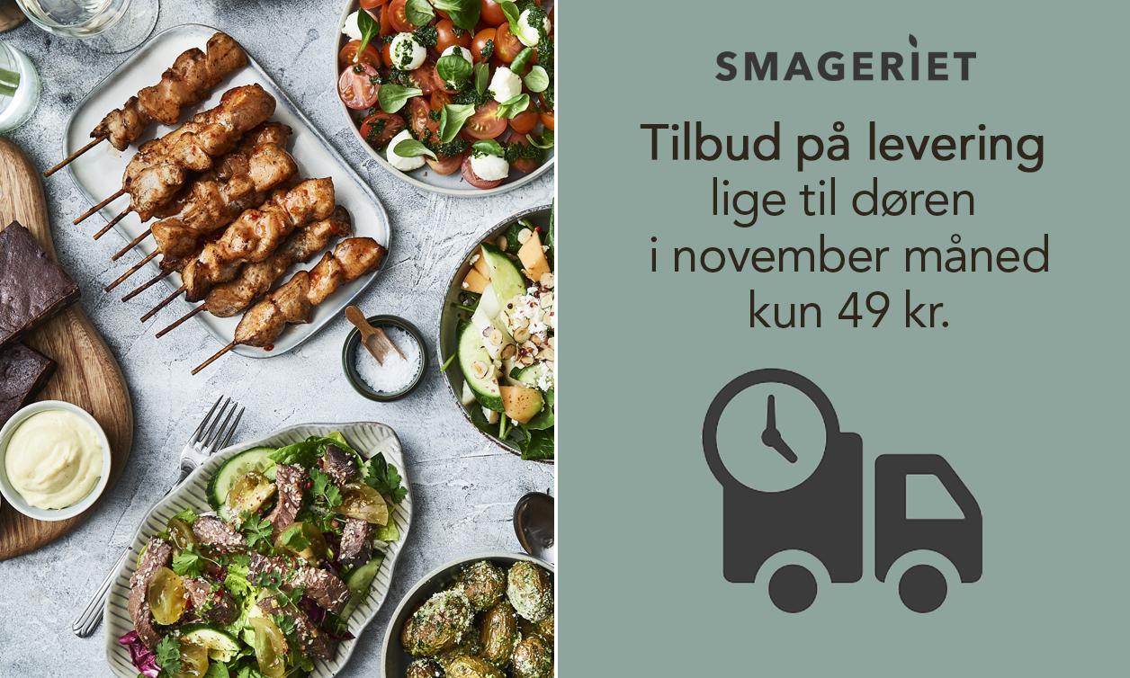 Hyggelige middagsselskaber i hjemmet: Fra 4 kuverter og levering til 49 kr. med Smageriet
