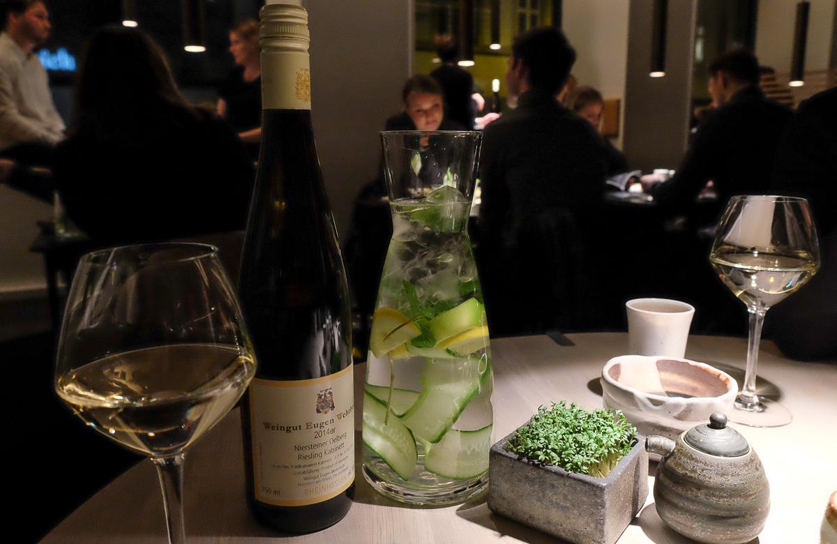 Lidt af drikke hos Karma Sushi i Aarhus_