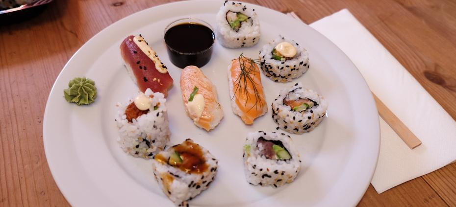 Lidt af hvert fra Teriyaki Sushi