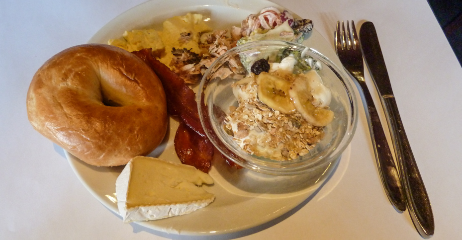 Lidt buffet på Cross Café