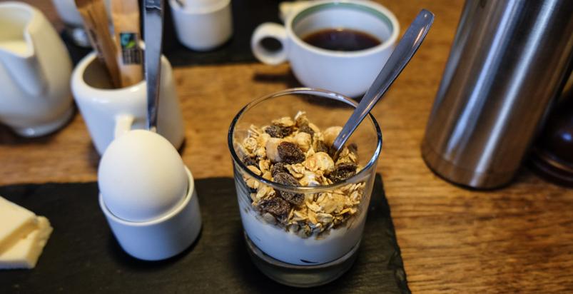 Lidt morgenmad på Vesterlauget
