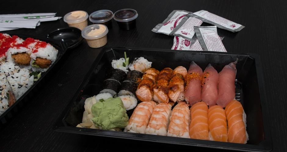 Lidt nigiri fra Sino Sushi i Viby