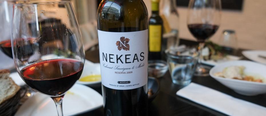 Lidt vin fra Bodega Nekeas på CANblau i Aarhus