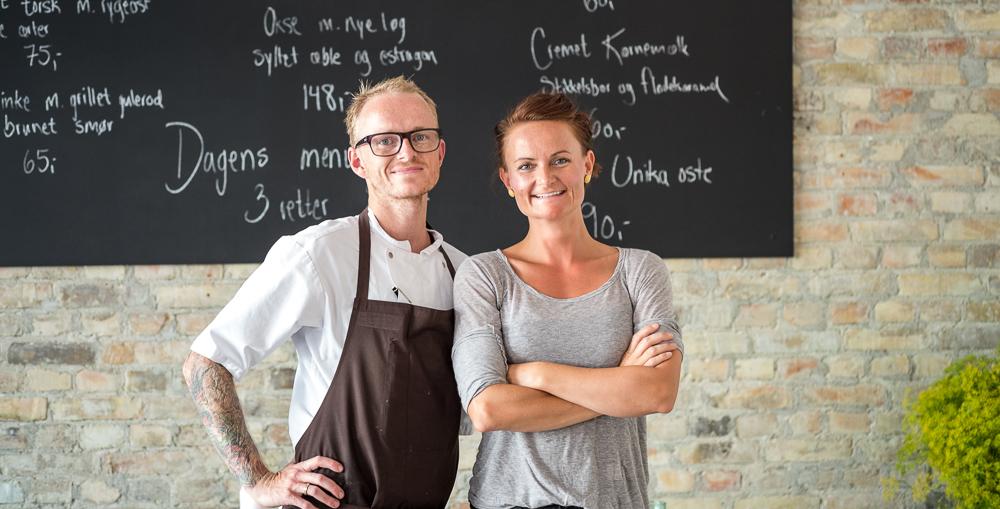 Louise og René Mammen på Restaurant Pondus i Aarhus