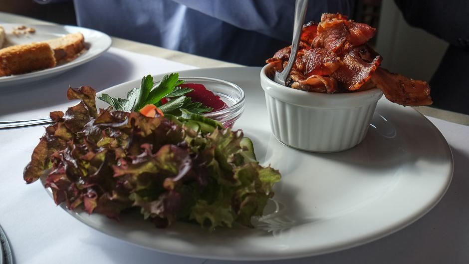 Lun leverpostej med bacon på Restaurant Kohalen i Aarhus