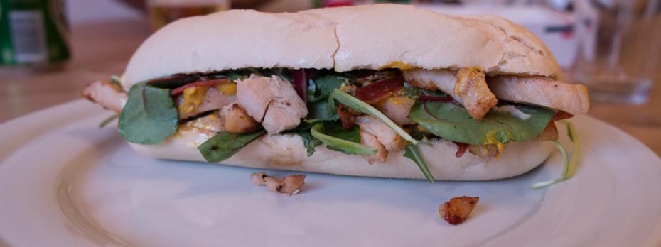 Lys sandwich fra Burger Hut