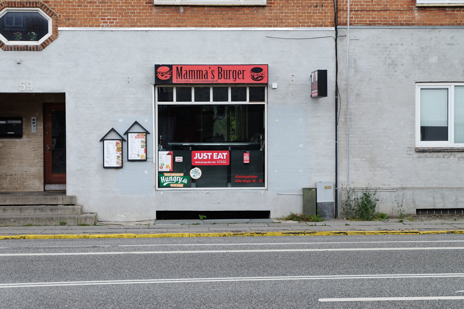 Mama's Burger på Oddervej i Højbjerg