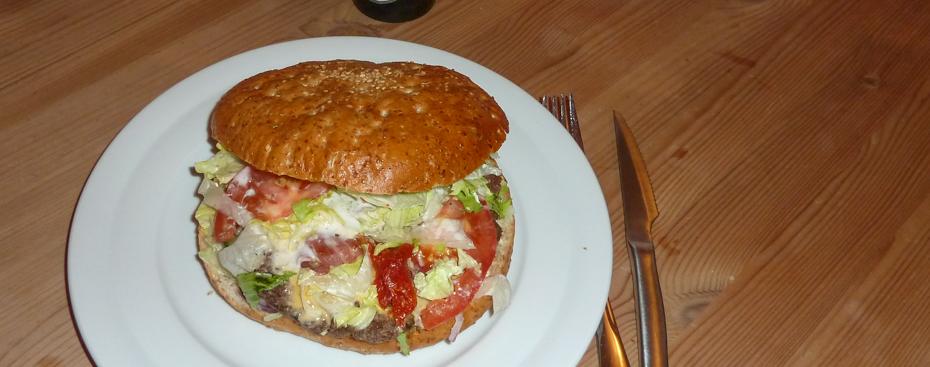 Mamma's burgeren fra Mama's Burger i Højbjerg