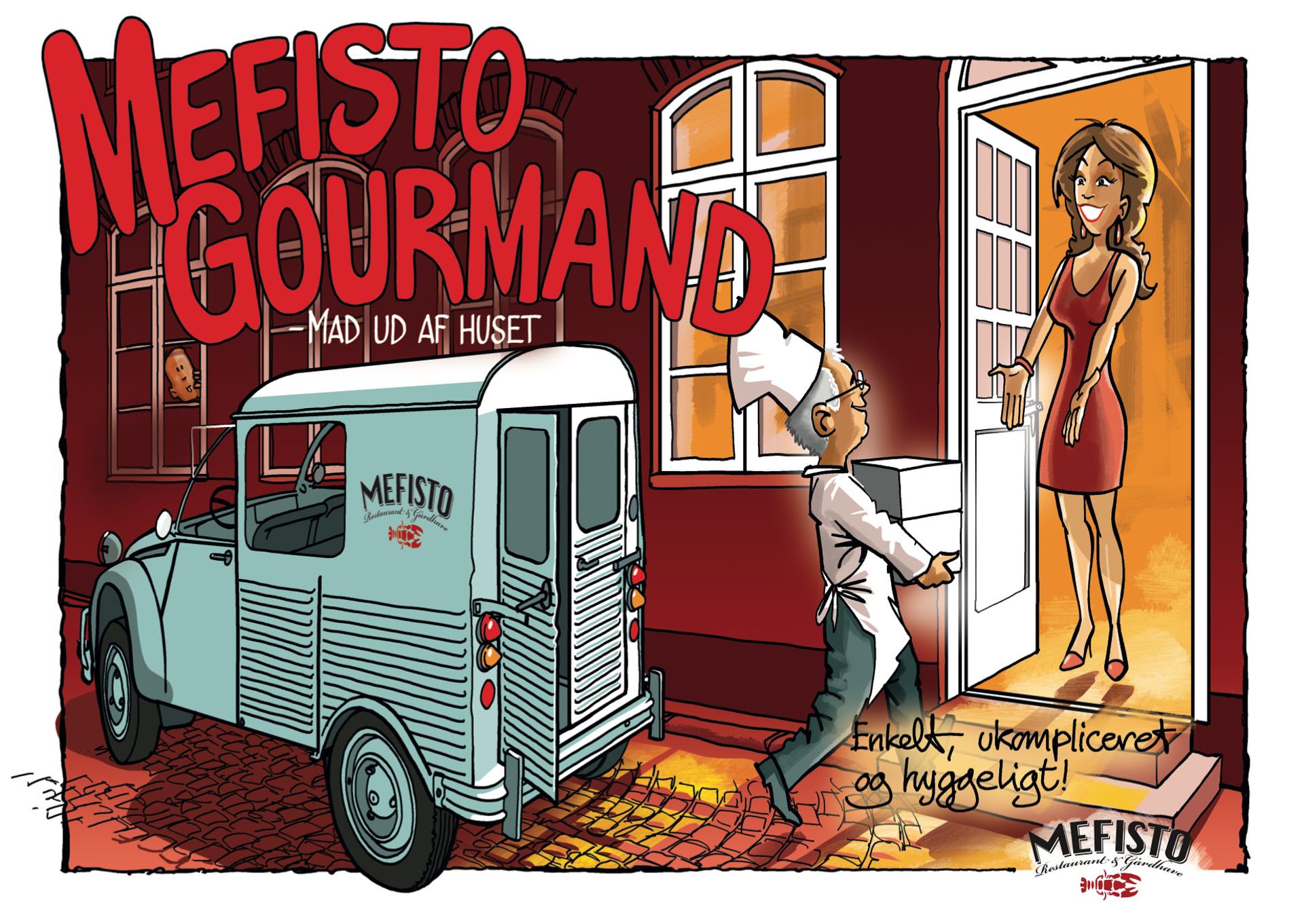 Mefisto tænker nyt: God mad leveret i fransk klassisk veteranbil