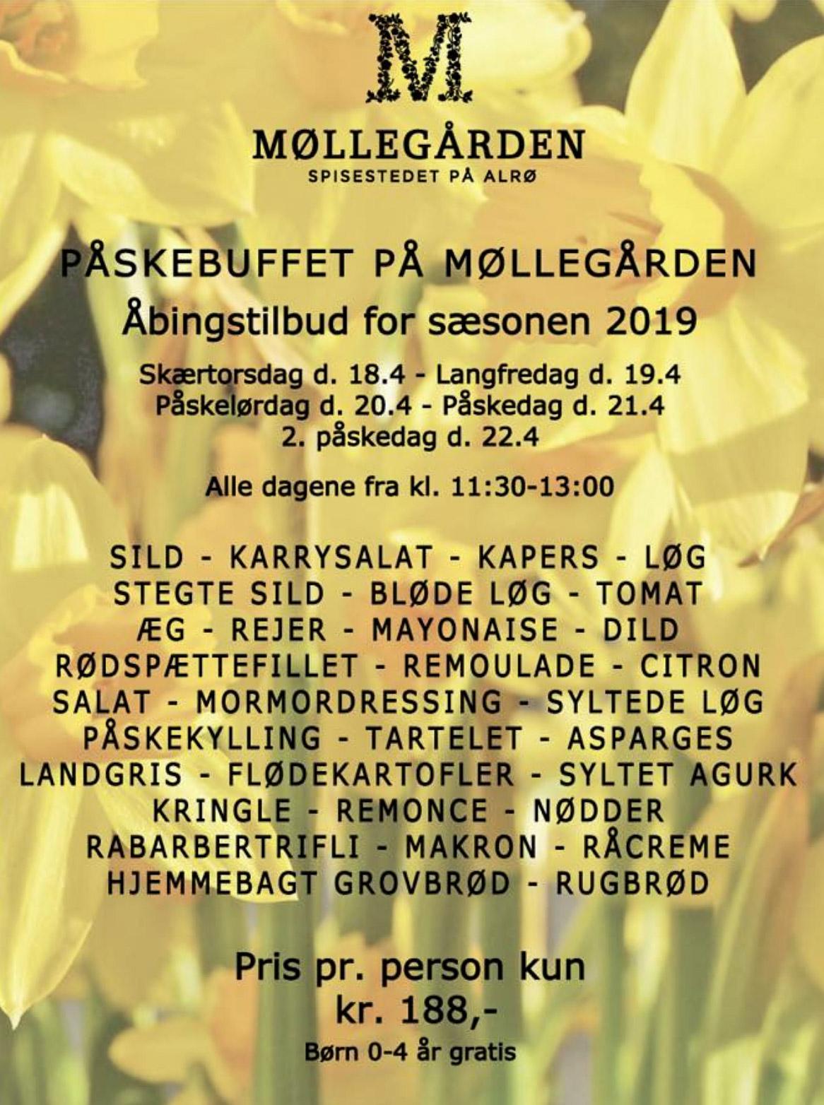 Traditionen tro: Påskefrokosten på Møllegården er udvidet til fem dage og sat ned til 188 kroner