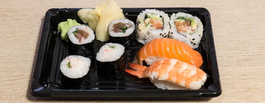 Minimenu til deling med 8 stykker til 69 kroner fra Mitsu Mizu Sushi